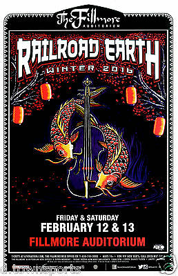 RAILROAD EARTH Winter Tour 2016 Fillmore  Denver 11x17 Concert Flyer /Gig Poster