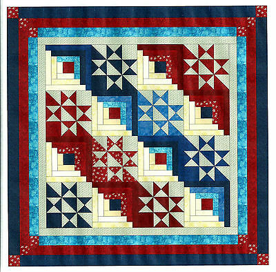 Easy Quilt Kit/Singing the Red, white and Blue/Pre-cut Fabric Ready To Sew****