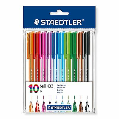 Staedtler 43235MPB10 Rainbow Ballpens - Pack of 10