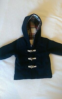 Holly Willoughby Baby Boys Navy Duffle Coat 3-6 months