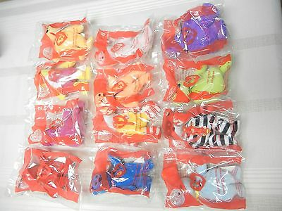 McDONALD'S TOYS - 2004 - TY TOY BEARS - SET OF 12 - NEW IN PKG.