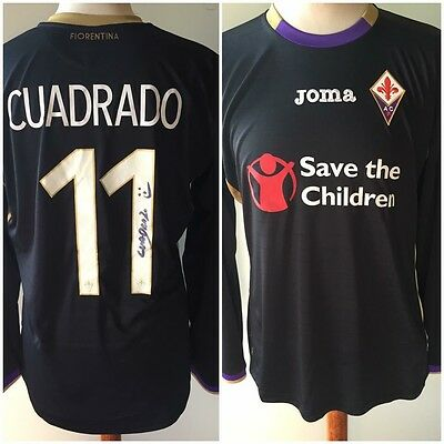 Match Worn Issued Fiorentina Cuadrado - Maglia Shirt Jersey Juventus Signed