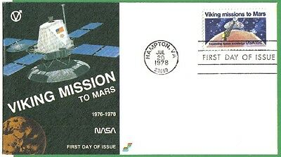 Us Fdc 1978 Viking Missions To Mars 15C #1759 Spectrum First Day Cover Space