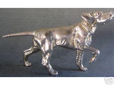 Beautiful English Sterling Silver Pointer Dog
