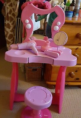 Girls play dressing table and stool