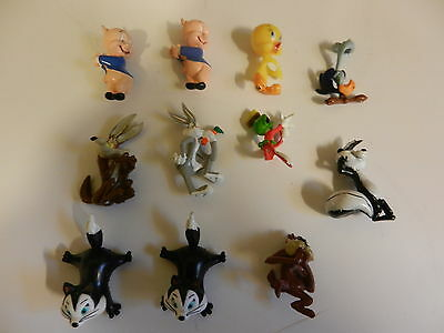 Looney Tunes Minature retired pencil toppers Bugs Bunny Porky Pig Tweety Bird