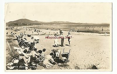 Scotland Leven The Beach Real Photo Vintage Postcard 24.02