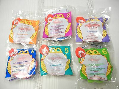 McDONALDS TOYS - 1996 - FULL SET OF 6 - BEETLE BORGS - NEW IN PKG.