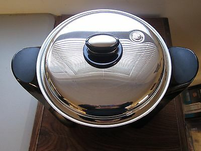 Saladmaster 316Ti MP5 Oil Core Electric Skillet Silver Titanium Stainless NEW