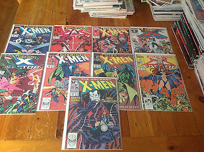 The Uncanny X-Men 239-243. X-Factor 36-39. Complete 'inferno' Storyline