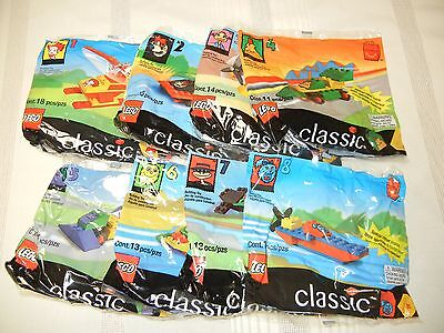 McDONALD'S TOYS - 1999 - FULL SET OF 8 -  LEGO CLASSIC - NEW IN PKG.