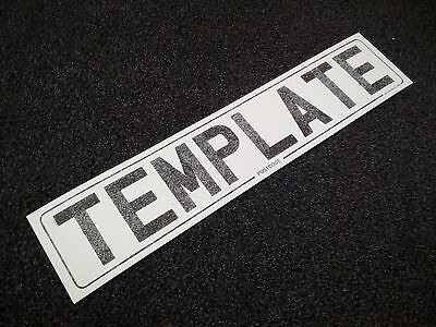 100x Number Licence Plate Reflective SIZED Template Paper 520x111 520mm x 111mm