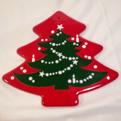 Waechtersbach Christmas Tree Pattern Pottery Trivet