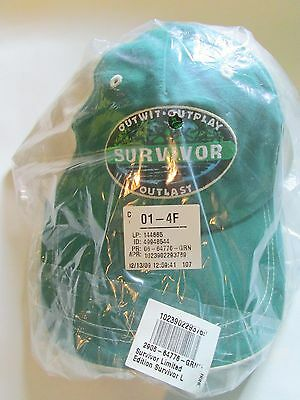 Survivor Limited  Edition Logo  Cap  ( Green  )     1St Release  Issue !