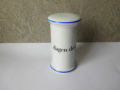 Bing and Grondahl small Apothocaries Jar. Manufactured in Denmark around 1993
