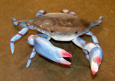 Hand Carved Blue Crab Chainsaw Carving Gumbo Seafood Restaurant Art Home Decor