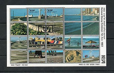 Israel Scott #851 Tel Aviv Stamp Exhibition SS First Day Cancelled!