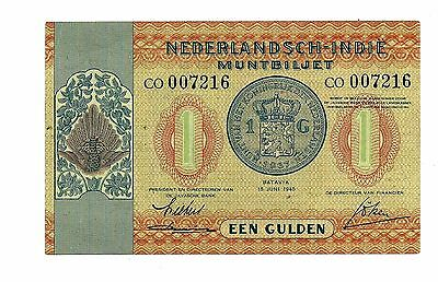 Netherlands Indies (P108a) 1 Gulden 1940 XF+