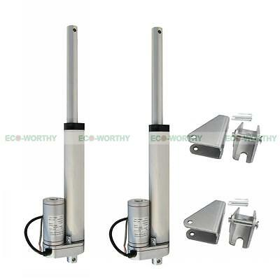 """2 PCS 6"""" 12V Linear Actuator Electric Motor & Bracket for Developing Machine"""