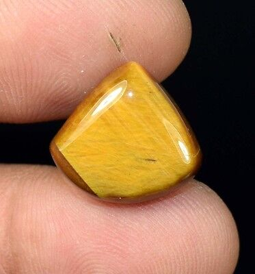 12.60  Cts. 100 %  Natural  Tiger Eye  Untreated  Pear   Cab Loose Gemstones