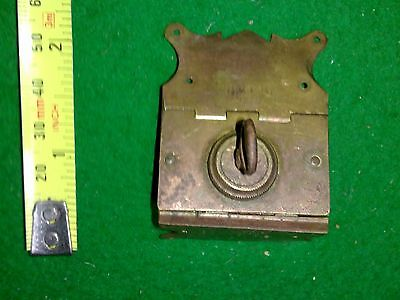 brass book lock, antique