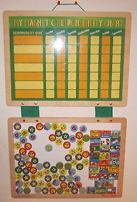 Melissa and Doug Wooden Magnetic Responsibility Chart - VGC
