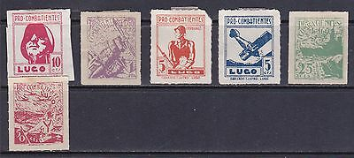 Lugo Spanish Civil War Stamps MM