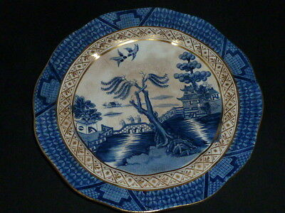 Gorgeous Antique Booths 'Real Old Willow' Plate, 1906