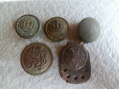 German Army uniform buttons WW1(1914-1918)