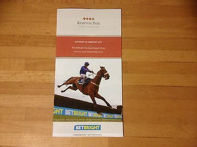 Kempton Jumps Race Card 25/2/17 2017 Betbright Chase Class 1