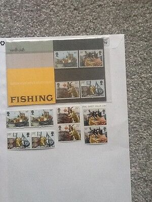 Royal Mail Mint Stamps_Fishing_ 1980 + Extra Mint Stamps_