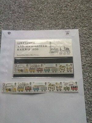 Royal Mail Mint Stamps_Liverpool+ Manchester Railway_ 1980 + Extra Mint Stamps_