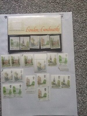 Royal Mail Mint Stamps_London Landmarks_1980 +Extra Mint Stamps_
