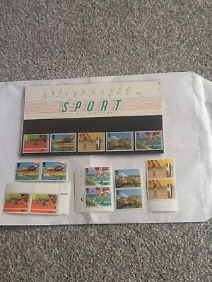 Royal Mail Mint Stamps_Sport-1986 +Extra Mint Stamps_