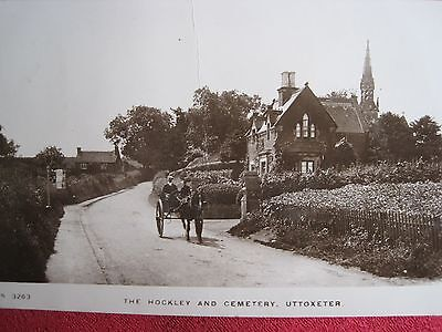 Staffordshire/derbyshire.  The Hockley & Cemetery,   Uttoxeter.  Real Photo.