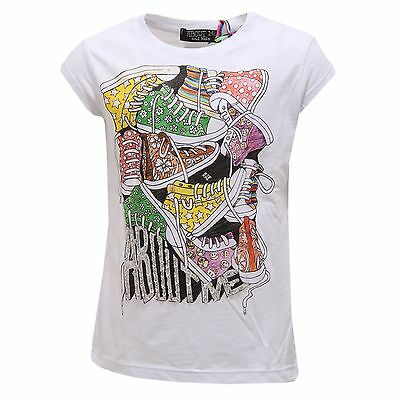 0501S maglia bimba ABOUT ME HAND MADE bianco multicolor t-shirt kid