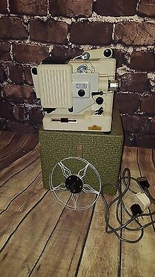 Vintage Retro Eumig P8 Portable Cine Cinema Projector Film Hard Case