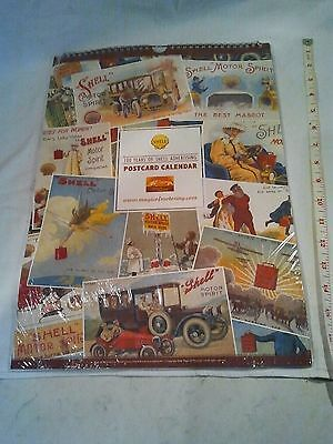 Vintage motoring Shell Postcard calendar 100 years of Shell advertising