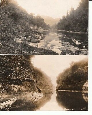Two RP PPC 1912/1913 WANGANUI RIVER - photographer F.G. Radcliffe