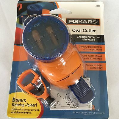 Fiskars Oval Cutter w/ Drawing Holder - 9385 - NEW