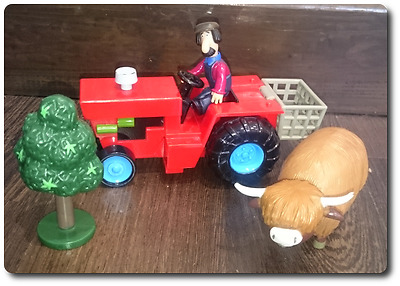 Postman Pat Ted Tractor cow figures accessories