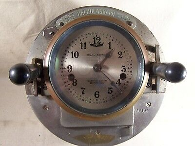 Antique Clock Machine Age Steam Punk Nautical Brass Bezel Gauge Face Large