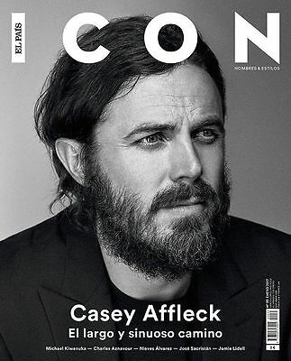 Detalles de  CASEY AFFLECK ICON SPAIN JANUARY 2017 AZNAVOUR GOLDEN GLOBES NIEVE