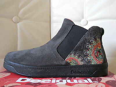 Desigual scarpe donna stivaletti 38 leather Shoes Swetty2 grigio Vera pelle €79