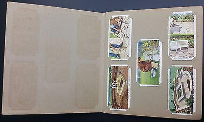 W.D & H.O.Wills Cigarette Cards Garden Hints Full Set Of 50 Cards In Album
