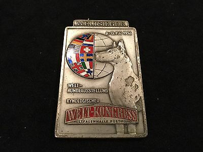 German Hound Dog Show Medal 1956 Fantastic Enamel Work