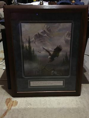 Isaiah 40:31 Home Interiors & Gifts Framed & Matted Soaring Eagle Picture