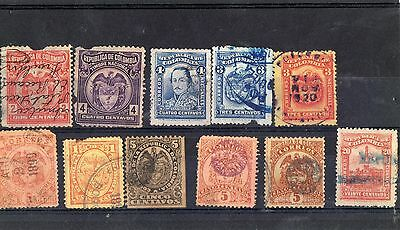Cards of Columbia mint & used 23 stamps nice lot