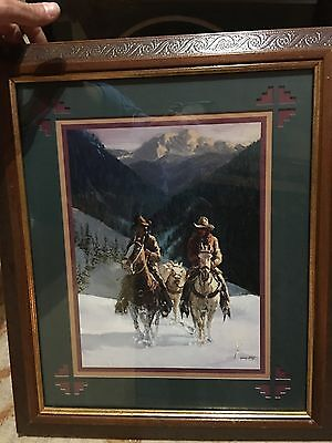 Home Interior Gifts Cowboys Riding In Snow Picture Gary Arztz