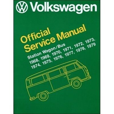 Volkswagen Station Wagon Bus Official Service Manual Type 2 1968-1979 book paper